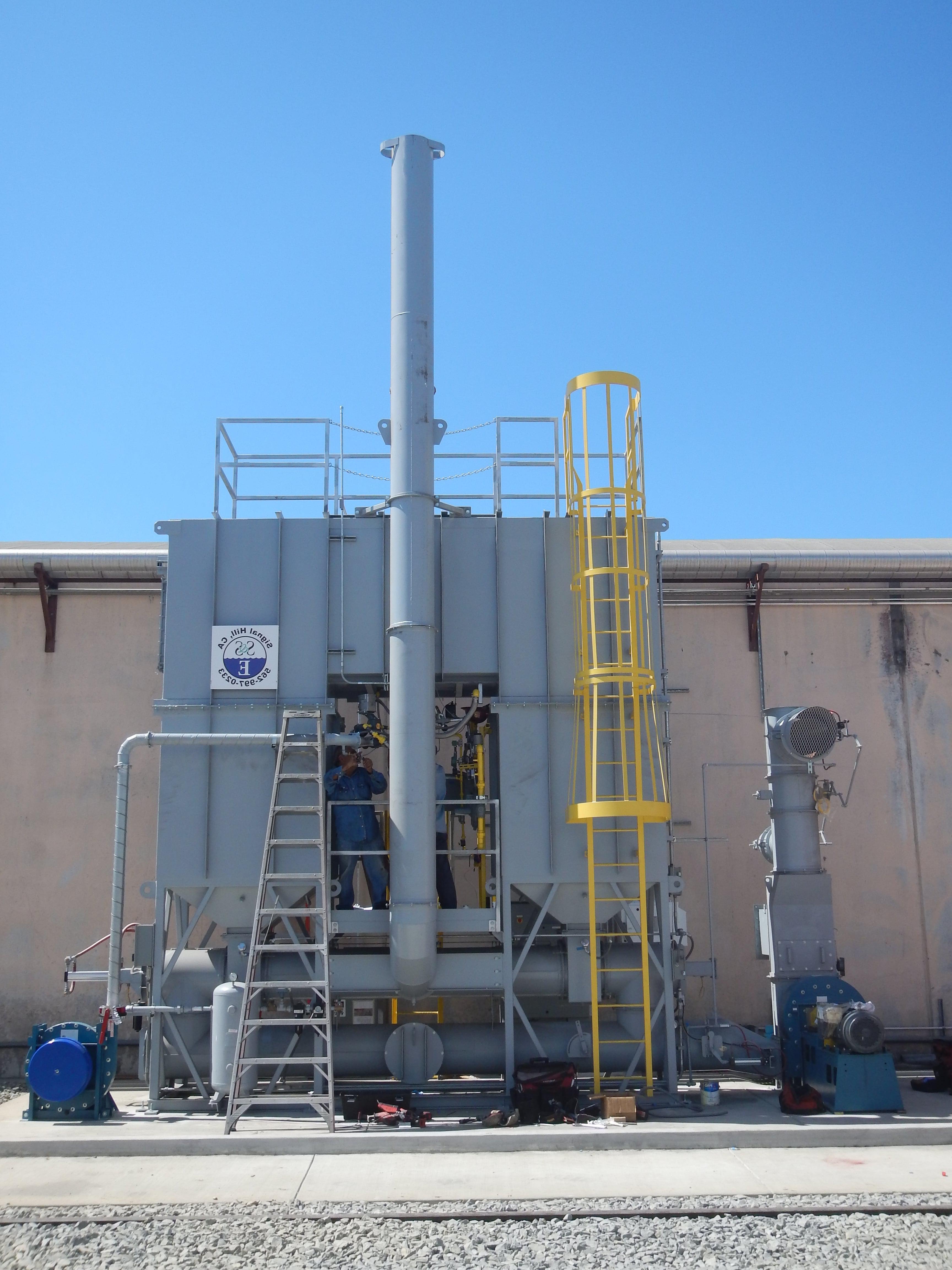 4000 SCFM再生热氧化剂的工厂