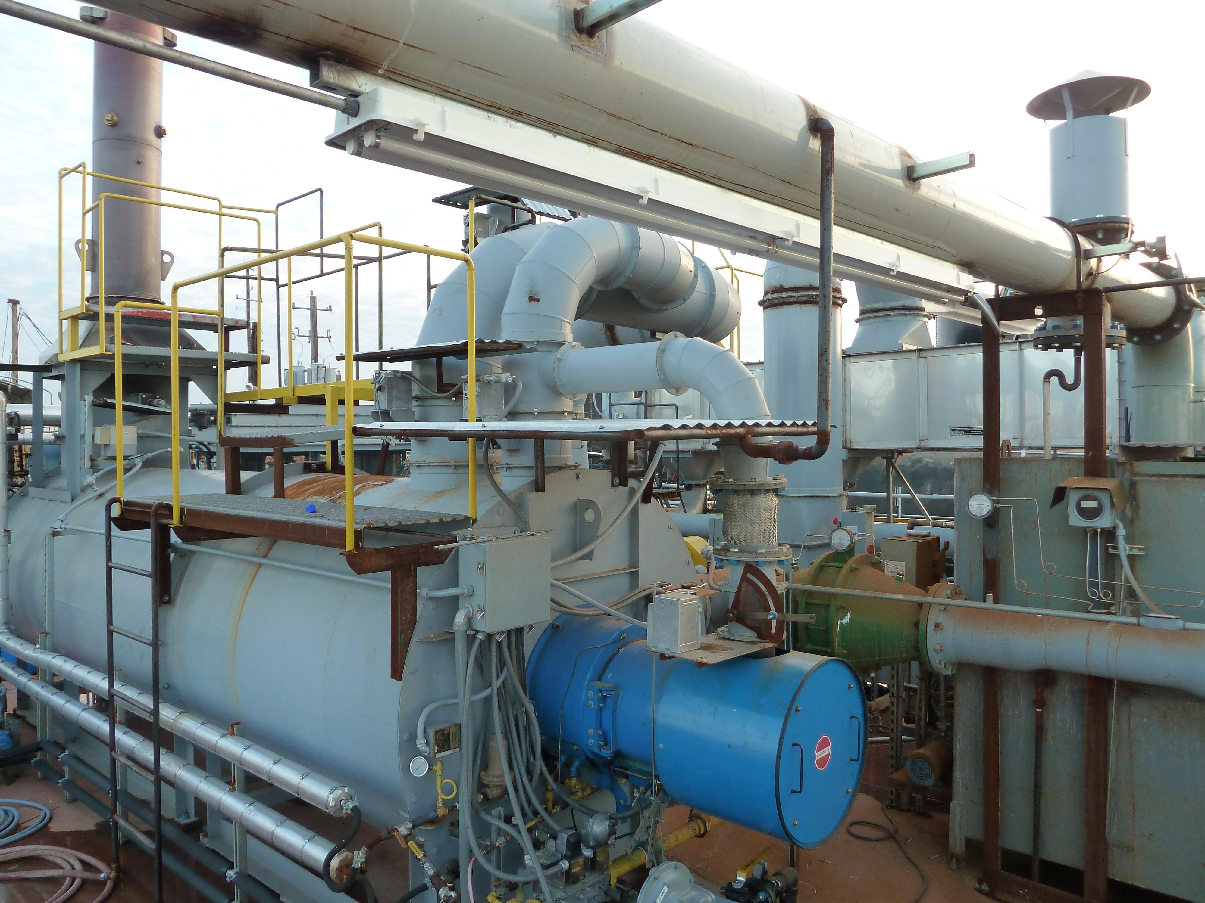 植物用蒸汽产生热氧化剂